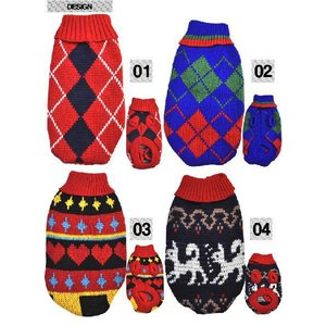 犬の服(秋 冬 セール)あったかニットセーター 4点アソートセット n-style