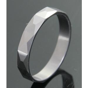 タングステンリング【4面カットタイプ】指輪刻印無料 n-style