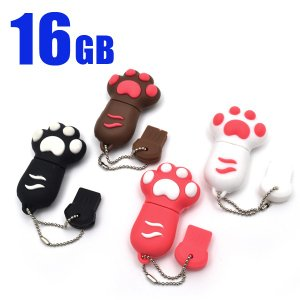 おもしろUSBメモリー 16GB 猫の肉球 面白 USBメモリ