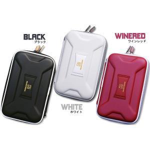 任天堂DSiLL専用 カードポケット付ハードポーチ【ブラック、ホワイト、レッド】|n-style