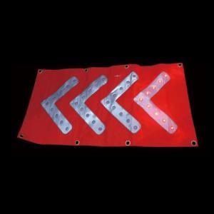 LED矢印シート 矢印発光シート(36灯) 赤色 工事・保安用品 n-style