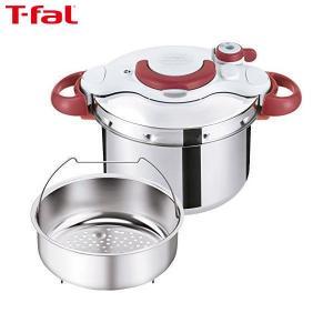 T-fal(ティファール) 圧力鍋 6L IH対応 4~6人用 ワンタッチ開閉 クリプソ ミニット イージー ルビーレッド P4620769|n-tools
