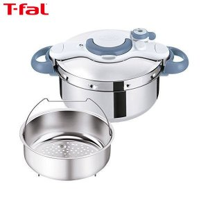 T-fal(ティファール) 圧力鍋 4.5L IH対応 2~4人用 ワンタッチ開閉 クリプソ ミニット イージー サックスブルー P4620670|n-tools