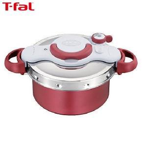 T-fal(ティファール) 圧力鍋 4.2L IH対応 2~4人用 ワンタッチ開閉 2in1 クリプソ ミニット デュオ レッド P4604236|n-tools