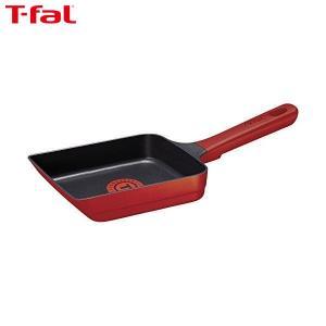 T-fal(ティファール) 玉子焼き器 IH対応 「 IHルビー・エクセレンス エッグロースター 」 チタン レインフォースド 2層コーティング 取っ手つき T-fal G60118|n-tools