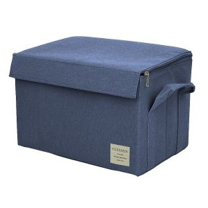 EStraria Nature 収納ボックス Mサイズ ブルー ふた付き ESTN-CBM-BL ストレリアナチュレ 東洋ケース|n-tools