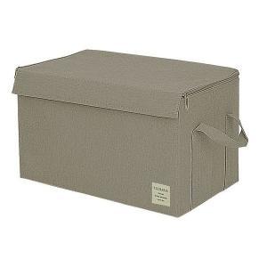 EStraria Nature 収納ボックス Lサイズ ダークグレー ふた付き ESTN-CBL-DGY ストレリアナチュレ 東洋ケース|n-tools