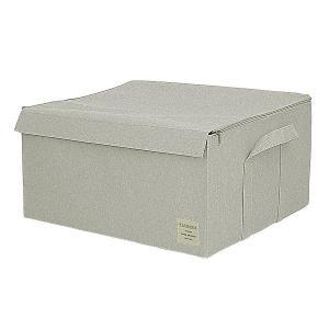EStraria Nature 収納ボックス LLサイズ ライトグレー ふた付き ESTN-CBLL-LGY ストレリアナチュレ 東洋ケース|n-tools