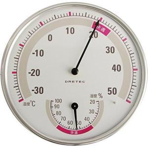 DRETEC(ドリテック) 温湿度計 ホワイト O−310WT|n-tools