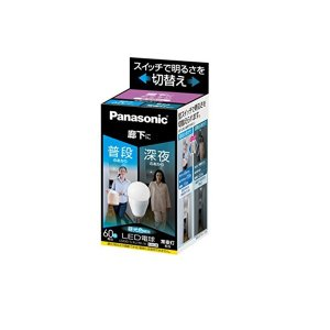 Panasonic(パナソニック) LED電球 口金直径26mm 電球60W形相当 昼光色相当(9.0W) 一般電球・明るさ切替タイプ 廊下向け 密閉形器具対応 LDA9DGKURKW|n-tools