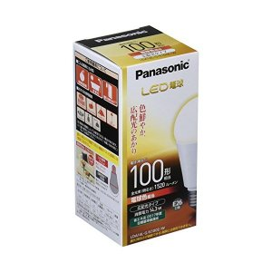 Panasonic(パナソニック) LED電球 口金直径26mm 電球100W形相当 電球色相当(14.3W) 一般電球・広配光タイプ 密閉形器具対応 LDA14L-G/K100E/W|n-tools