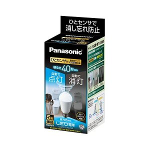 Panasonic(パナソニック) LED電球 口金直径26mm 電球40W形相当 昼光色相当(5.0W) 一般電球・人感センサー LDA5DGKUNS|n-tools