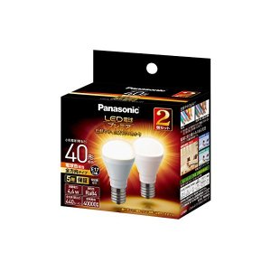 Panasonic(パナソニック) LED電球 プレミア 口金直径17mm 電球40W形相当 電球色相当(4.4W) 小形電球・全方向タイプ 2個入り 密閉器具対応 LDA4LGE17Z40ESW22T|n-tools