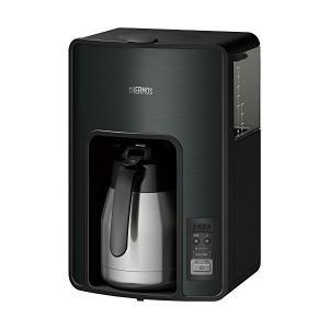 THERMOS(サーモス) 真空断熱ポットコーヒーメーカー 1.0L ブラック タイマーで前日予約が可能 ECH-1001-BK|n-tools