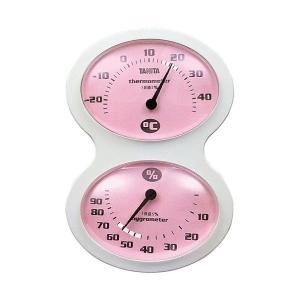 タニタ(TANITA) アナログ温湿度計 掛けタイプ/フック穴付 ピンク TT-509-PK|n-tools