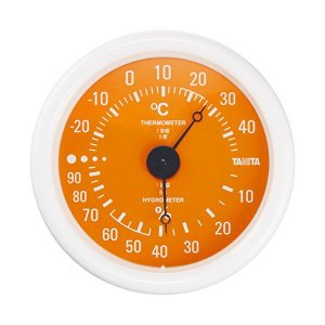 タニタ(TANITA) アナログ温湿度計 掛けタイプ/フック穴付 オレンジ TT-515-OR|n-tools