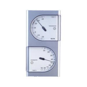 タニタ(TANITA) 温湿度計 シルバー TT-518|n-tools