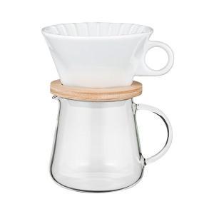 iwaki(イワキ) 耐熱ガラス SNOWTOP コーヒーポット & ドリッパー セット 400ml K9964-M|n-tools