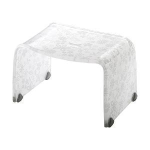 風呂椅子 バスチェアー Sサイズ フィルロ フラワー ホワイト リス|n-tools