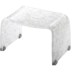 風呂椅子 バスチェアー Mサイズ フィルロ フラワー ホワイト リス|n-tools