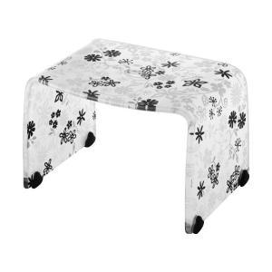 風呂椅子 バスチェアー Sサイズ フィルロ フラワー ブラック リス|n-tools