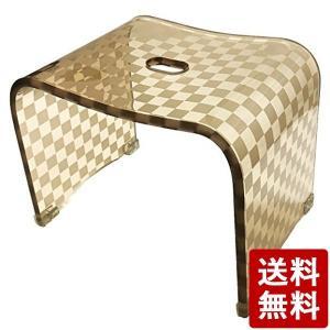 チェッカー バスチェア カフェオレ Mサイズ 77315 センコー|n-tools