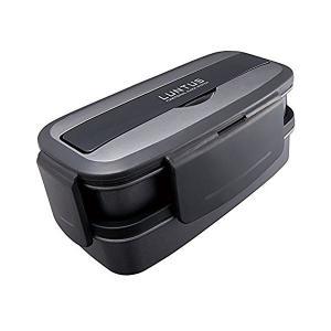 ランチボックス2段バッグ付 ランタス ブラック TLB-820 アスベル n-tools