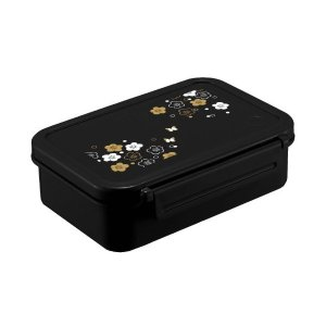 ランチボックス1段 うめ花バッグ付 ランタス ブラック OA-500 アスベル n-tools