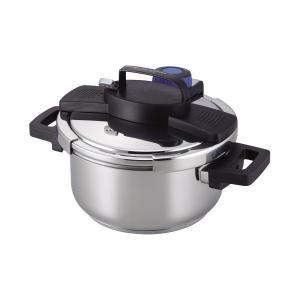 圧力鍋 4.0L IH対応 3層底 ワンタッチレバー H-5388 パール金属|n-tools