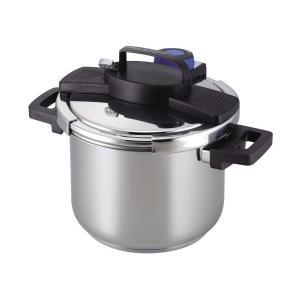 圧力鍋 5.5L IH対応 3層底 ワンタッチレバー H-5389 パール金属|n-tools