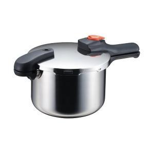 片手 圧力鍋 5.5L IH対応 ステンレス 圧力切替式 節約クック H-5437 パール金属|n-tools