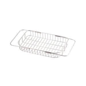 食器 水切り かご 浅型 シンク スライド式 ステンレス エスタジオ H-6135 パール金属|n-tools