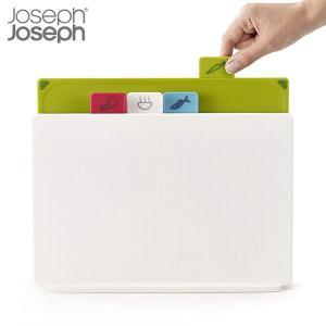 Joseph Joseph インデックス付まな板 アドバンス2.0 レギュラー 4枚入 ホワイト 60138 ジョゼフジョゼフ n-tools