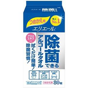 エリエール 除菌できるアルコールタオル 詰替80枚|n-tools
