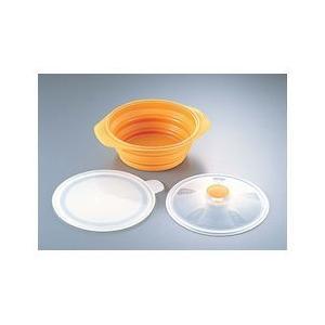 シリコン おりたたみキャセロール オレンジ AKY5401|n-tools