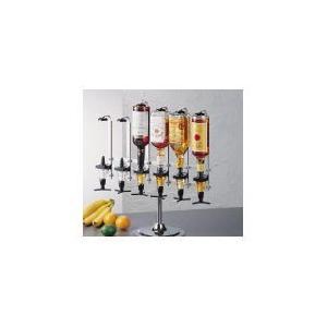 ビューモント ウィスキーメジャースタンド 1列式6本立1OZ黒|n-tools