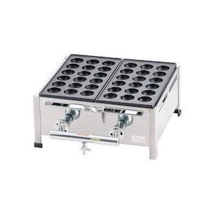 関西式たこ焼器 18穴 2枚掛LPガス GTK7804|n-tools
