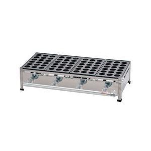 関西式たこ焼器 18穴 4枚掛LPガス GTK7810|n-tools