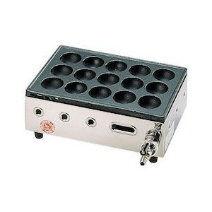 高級たこ焼器 Y-03D 15穴 LPガス GTK551|n-tools