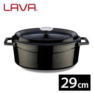 LAVA オーバルキャセロール 29cm Shiny Black (シャイニーブラック) IH対応 鋳鉄ホーロー LV0085 ラヴァ n-tools