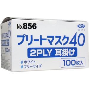 業務用プリートマスク40 2PLY 耳掛け フリーサイズ 100枚入|n-tools