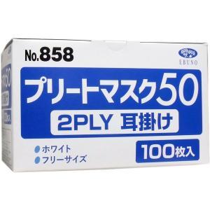 業務用プリートマスク50 2PLY 耳掛け フリーサイズ 100枚入|n-tools