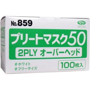 業務用プリートマスク50 2PLY オーバーヘッド フリーサイズ 100枚入|n-tools