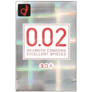オカモトコンドームズ 0.02EX(エクセレント) 3個入|n-tools