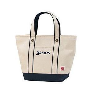 ダンロップ SRIXON 帆布ラウンドトートバッグ GGF-B4008 ネイビー DUNLOP|n-tools