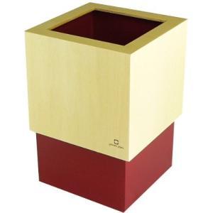 W CUBE ダストボックス DUSTBOX 赤色 YK06-012Rd ヤマト工芸 yamato japan|n-tools