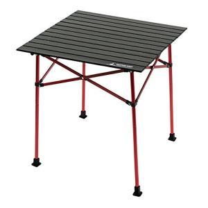 キャプテンスタッグ(CAPTAIN STAG) テーブル アルミツーウェイ ロールテーブル ブラック 70cm ジュール UC-523|n-tools