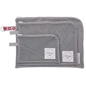 衣類 がそのまま 洗える 収納 ポーチ 3サイズ 3点セット グレー|n-tools