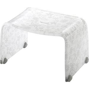 リス 風呂椅子 バスチェアー Mサイズ フィルロ フラワー ホワイト|n-tools