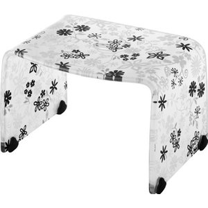 リス 風呂椅子 バスチェアー Sサイズ フィルロ フラワー ブラック|n-tools